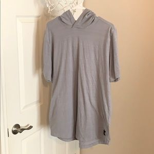 Under Armour Grey Short Sleeve Shirt Hoodie